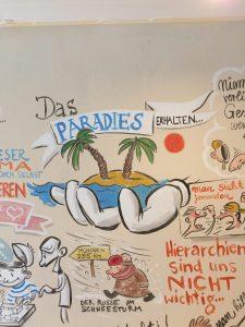 Puls Wandgemälde skaliert; Das Paradies erhalten...