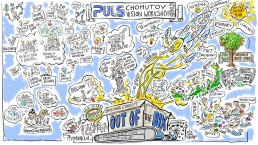 Kunde: Puls, Hersteller von Elekronikartikeln; Veranstaltung: visions workshop in Prag für die agile Arbeit am neuen Standort in Chomutow, Tchechien.