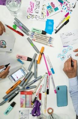 Edding; Marker; Live Zeichner bei der Arbeit; Unitymedia Agacom