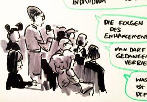 Nahaufnahme Zeichnung für NRW Forum
