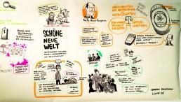 Illustration von Stephan Lomp; Schöne neue Welt; NRW Forum