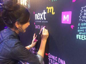 Lisa Taniyama beim Graphic Recording im NextM Event 2018