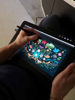 Kunde: Wacom, Projekt: Live Sketching during