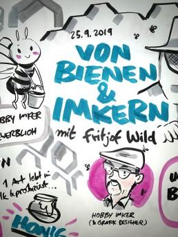 Kunde: Kabawil e.V., Event: Kitchen Stories - Fritjof Wild - Von Bienen & Imkern. Erfahren Sie mehr über unssere Arbeiten als Graphic Reccorder.